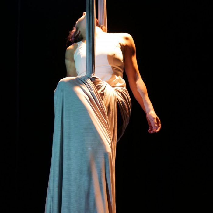 Manon Briaumont au tissu aérien